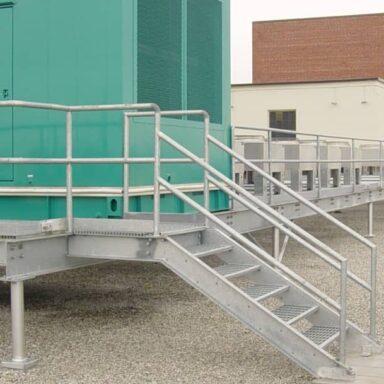 Galvanized Platform, Stairs and Railing