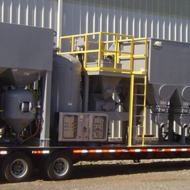 Portable Sand Blasting Unit (Hopper and Frames Supplied by Ackerman & Baynes)