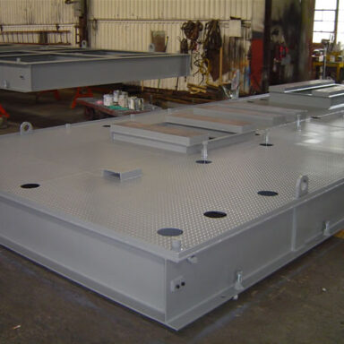 Structural Steel Base for a Petrochemical Compression System