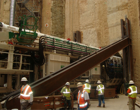 Structural Steel Wall Support for DC Tunnel Project